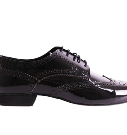 MEN 07 BLACK PATENT – SOFT SOLE