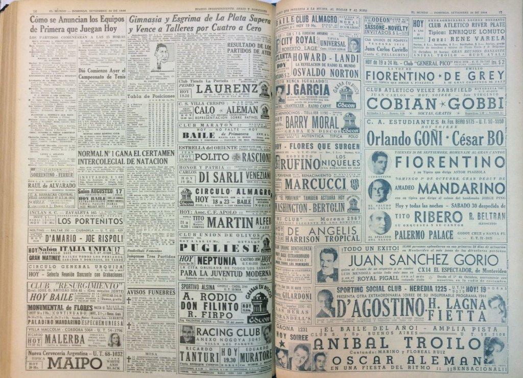 Storia del Tango, Milonghe a Buenos Aires